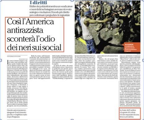 Articolo di Vittorio Zucconi  del 22 Dicembre 2014